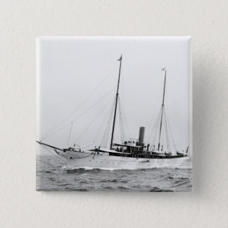 Steam Yacht North Star, early 1900s Pinback Button