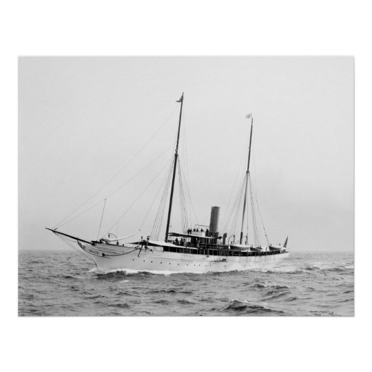 Steam Yacht North Star, early 1900s Poster