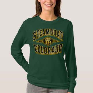 Steamboat 1884 Black & Gold T-Shirt