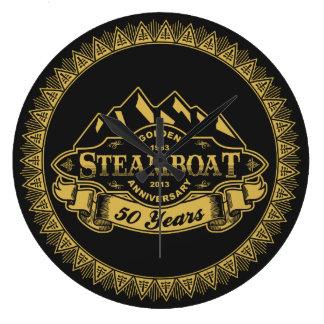 Steamboat 50th Anniversary Emblem Round Wallclock