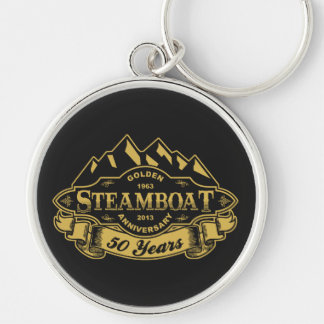 Steamboat 50th Anniversary Emblem Keychains