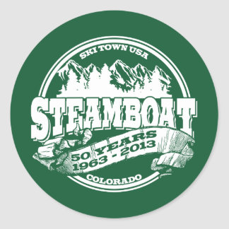 Steamboat 50th Old Circle Classic Round Sticker