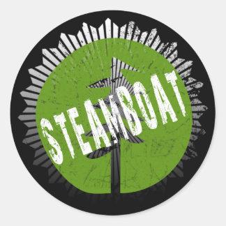 Steamboat Decay Logo Classic Round Sticker