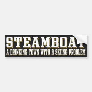 Steamboat Drinking & Skiing Sticker