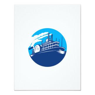 Steamboat Ferry Passenger Ship Retro Card