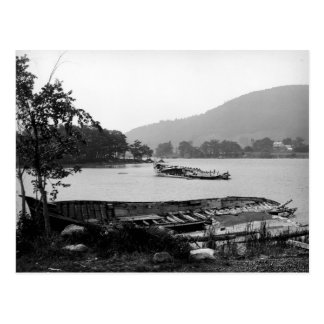 Steamboat graveyard Lake George New York Postcard