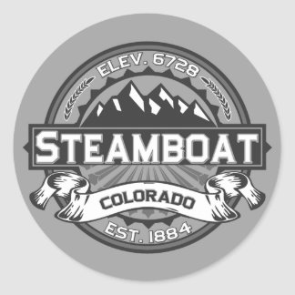 Steamboat Grey Classic Round Sticker