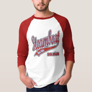 Steamboat Grunge Baseball Jersey T-Shirt