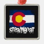 Steamboat Grunge Flag Christmas Ornament