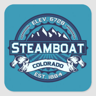 Steamboat Ice Square Sticker