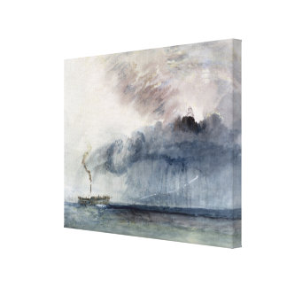 Steamboat in a Storm, c.1841 (w/c & pencil on pape Canvas Print