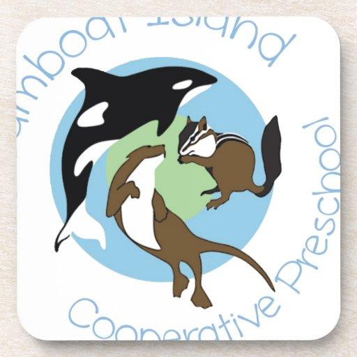 Steamboat Island Coop Preschool Coasters