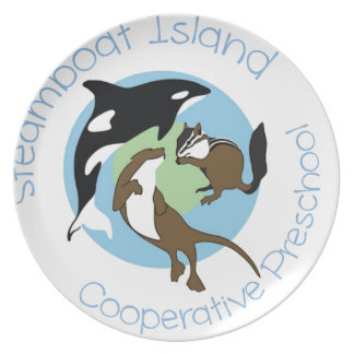 Steamboat Island Coop Preschool Dinner Plate
