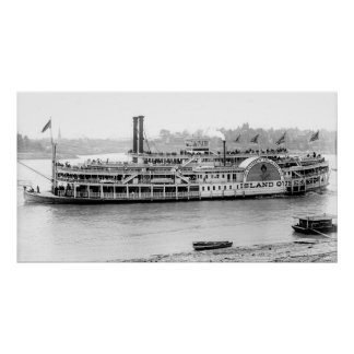 Steamboat 'Island Queen' 1906 BW Posters