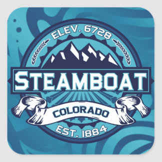 Steamboat Logo Ice Square Sticker