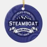 Steamboat Logo Midnight Ornaments