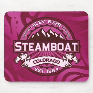 Steamboat Logo Raspberry Mouse Pad