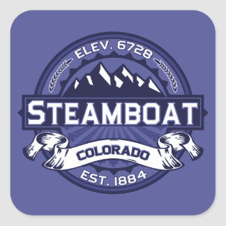 Steamboat Midnight Square Sticker