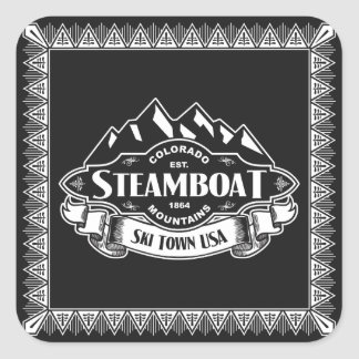Steamboat Mountain Emblem Square Sticker