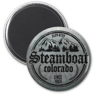 Steamboat Old Circle Metal Logo 2 Inch Round Magnet