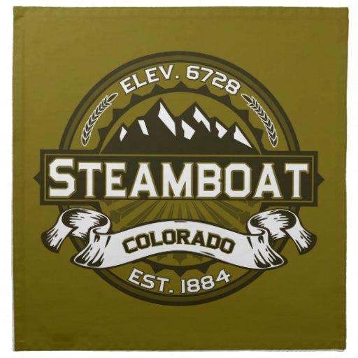 Steamboat Olive Printed Napkin