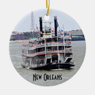 Steamboat on the Mississippi River Ceramic Ornament