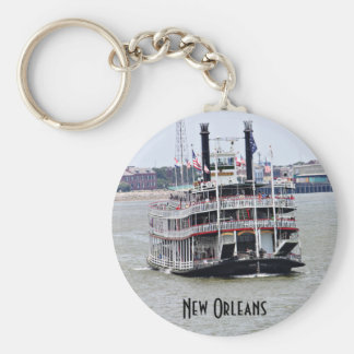 Steamboat on the Mississippi River Key Chains