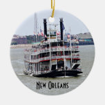 Steamboat on the Mississippi River Christmas Ornaments