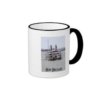 Steamboat on the Mississippi River Ringer Mug