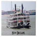 Steamboat on the Mississippi River Tiles
