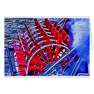 Steamboat Paddle Wheel Card
