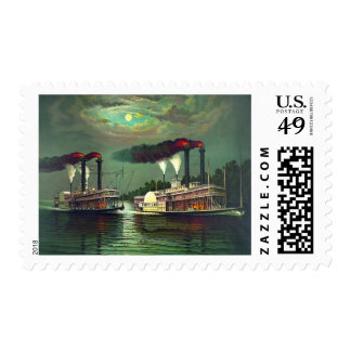 Steamboat Race 1883 Postage