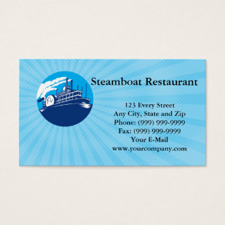 Steamboat Restaurant Business card