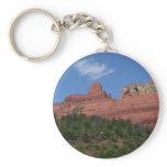 Steamboat Rock in Sedona Arizona Photography Keychain