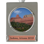 Steamboat Rock Silver Plated Banner Ornament