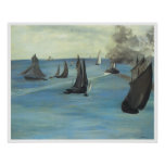 Steamboat, Seascape or Sea View Calm Weather Posters