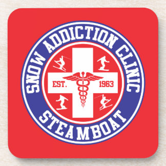 Steamboat Snow Addiction Clinic Coaster
