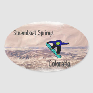 Steamboat Snowboard sticker