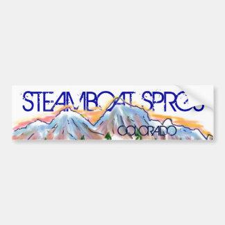 Steamboat Sprgs Colorado artistic mountain sticker