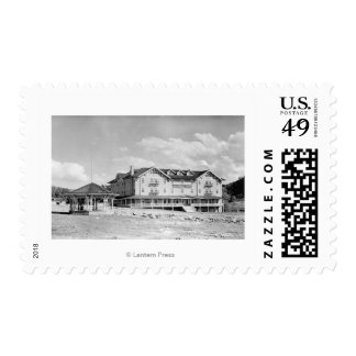 Steamboat Springs, CO Lodge and Cabins Photograp Postage Stamp