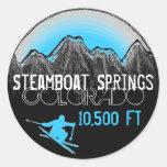Steamboat Springs Colorado blue ski stickers