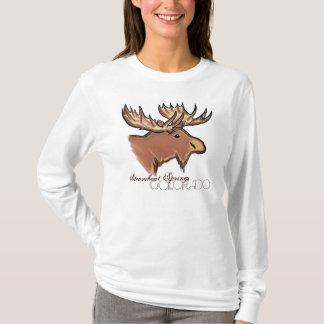 Steamboat Springs Colorado brown moose ladies tee