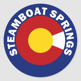 Steamboat Springs, Colorado Classic Round Sticker