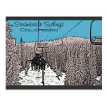 Steamboat Springs Colorado day on lift postcard
