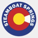 Steamboat Springs, Colorado Etiquetas Redondas