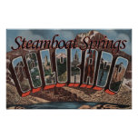 Steamboat Springs, Colorado - Large Letter Scene Print