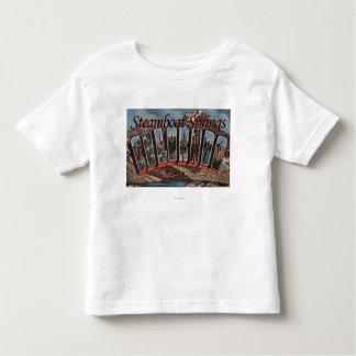 Steamboat Springs, Colorado - Large Letter Scene Toddler T-shirt