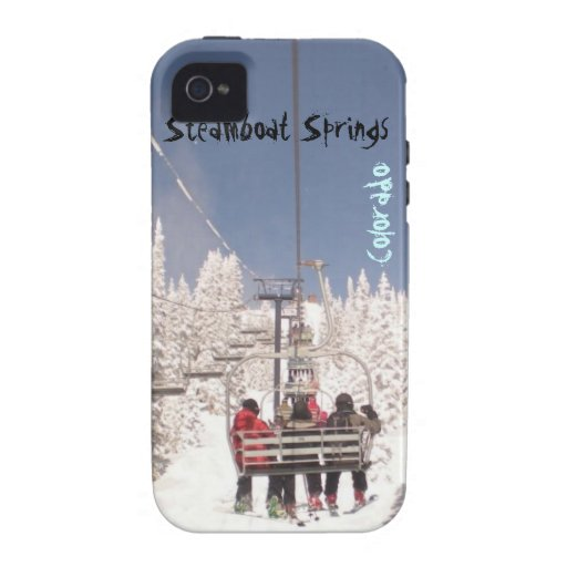 Steamboat Springs Colorado lift 4 iphone tough Case-Mate iPhone 4 Case