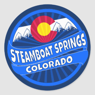 Steamboat Springs Colorado mountain burst sticker