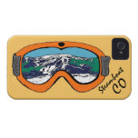Steamboat Springs Colorado orange goggle iphone 4 iPhone 4 Cover